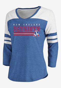 NFL® Long Sleeve Yoked V Tee with Army Stripes,