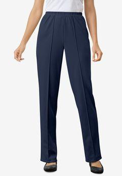 Elastic-Waist Soft Knit Pant,