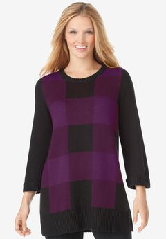 Buffalo Plaid Pullover Sweater,
