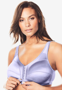 Front-Close Satin Wireless Bra ,