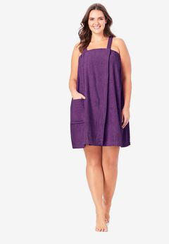 Dreams & Co.® Terry Towel Wrap, RICH VIOLET