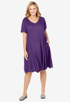 Short Crinkle Dress,