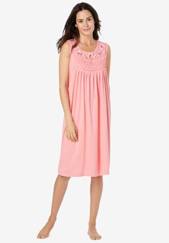 Sleeveless Smocked Sleep Gown,