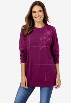 Patchwork Embroidered Top,