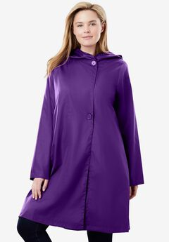Packable Hooded Raincoat,