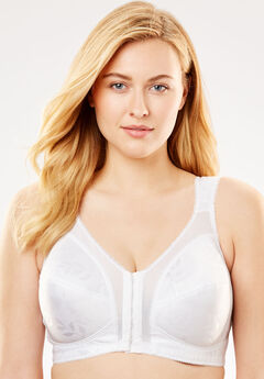 18 Hour Front-Close Wireless Bra with Flex Back 4695,