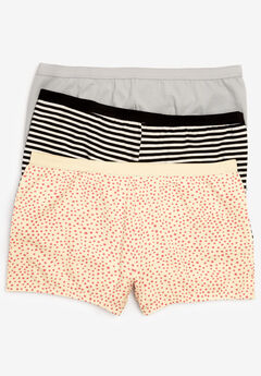 3-Pack Boyshort , VANILLA DOT PACK