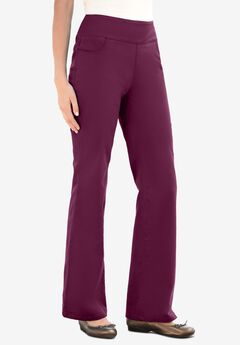 Pull-On Bootcut Jean, DEEP CLARET