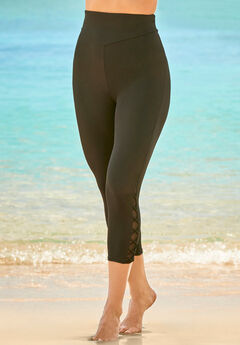 High-Waisted Swim Capri,