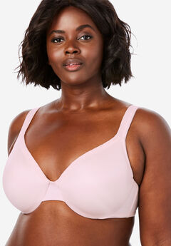Lace Trim Microfiber Underwire T-Shirt Bra ,