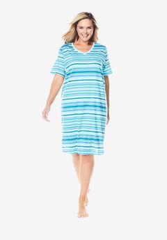 Print Sleepshirt, CARIBBEAN BLUE STRIPE
