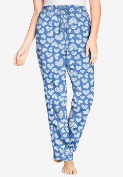 Knit Sleep Pant , FRENCH BLUE HEART