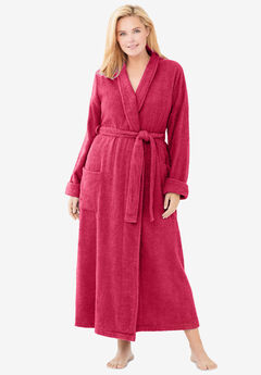 Long Terry Robe , PINK BURST