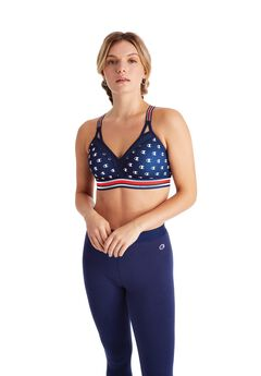 Champion® Women Curvy Strappy Sports Bra - Print,