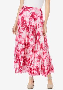 Pull-On Elastic Waist Printed Skirt,