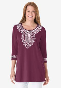 Embroidered Knit Tunic,