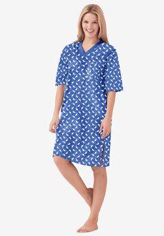 Print Sleepshirt , CORNFLOWER BLUE CAT