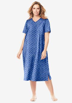 Long Print Sleepshirt ,