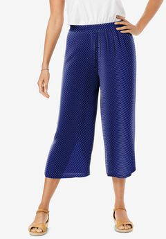 Pull-On Elastic Waist Soft Capris,