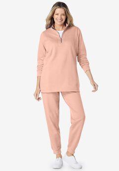 2-piece fleece sweatshirt set,