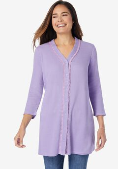 Thermal Button-Front Tunic,