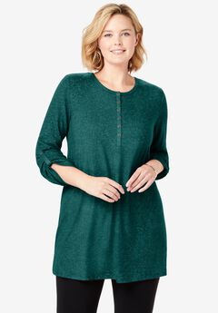 Cozy Henley Tunic,