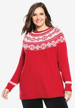 Fair Isle Knit Sweater,