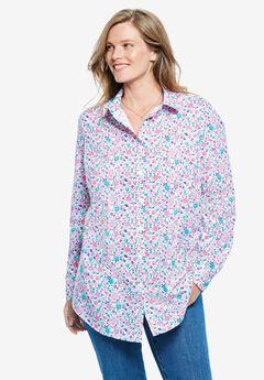 Perfect Long-Sleeve Button Down Shirt,