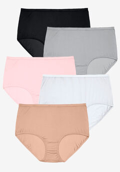 5-Pack Pure Cotton Full-Cut Brief , BASIC PACK
