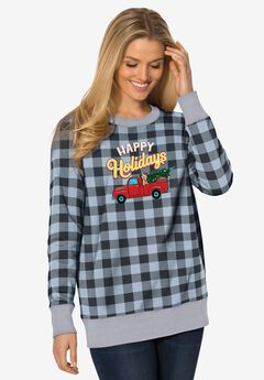 Fleece Holiday Sweatshirt,