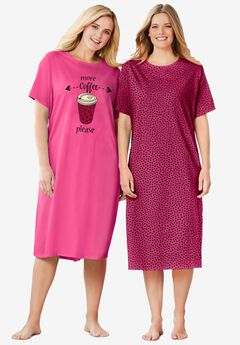 2-Pack Long Sleepshirts ,