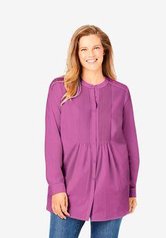 Perfect Pintucked Shirt, ROSE BUD