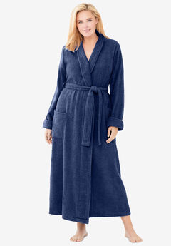 Long Terry Robe , EVENING BLUE