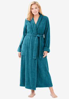 Long Terry Robe , DEEP TEAL