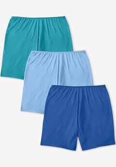 3-Pack Stretch Cotton Boxer Boyshort , VIBRANT BLUE PACK