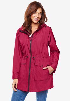 Packable High-Low Raincoat,