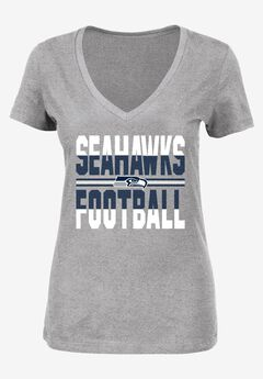 Classic V-Neck Short Sleeve NFL® Tee, SEAHAWKS