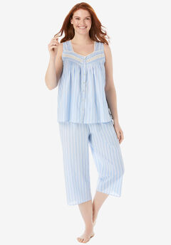 Sleeveless PJ Capri Set,