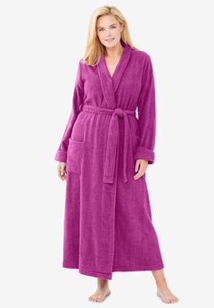 Long Terry Robe , RICH MAGENTA