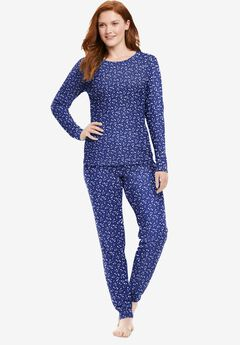 Thermal Long Sleeve Tee , EVENING BLUE STARS