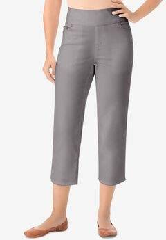 Pull-On Denim Capri,