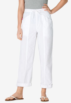 Cotton Pants with Front Seam,