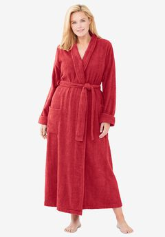 Long Terry Robe , CLASSIC RED