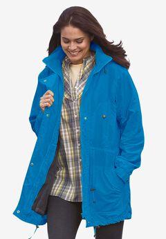 Fleece-Lined Taslon® Anorak, VIBRANT BLUE