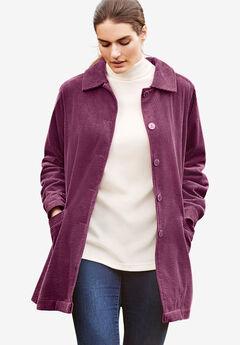Pleat-Back Corduroy Jacket,