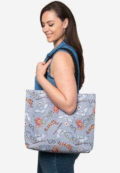 Harry Potter Gryffindor Travel Rope Tote Bag Carry-On Hedwig Glasses,