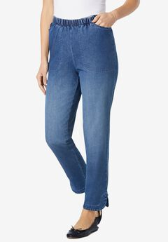 Tulip Hem Fineline Jeans,