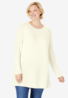 Cable Knit Pullover Sweater,