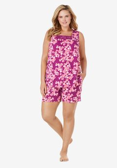 Whisperweight Gauze Shorty PJ Set ,