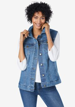 Stretch Denim Vest,
